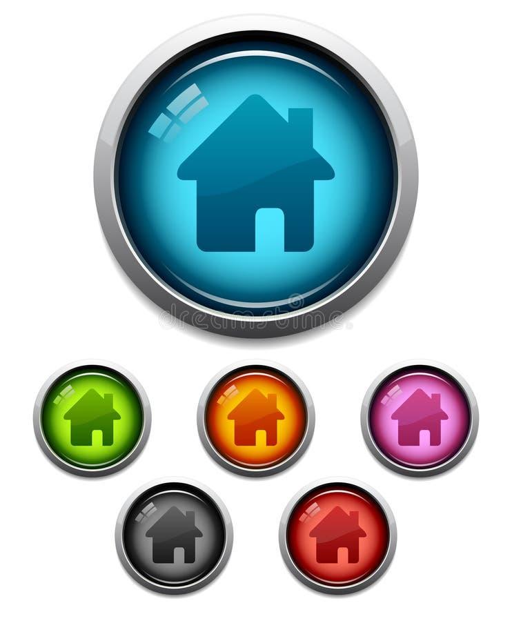 按钮家庭图标 向量例证