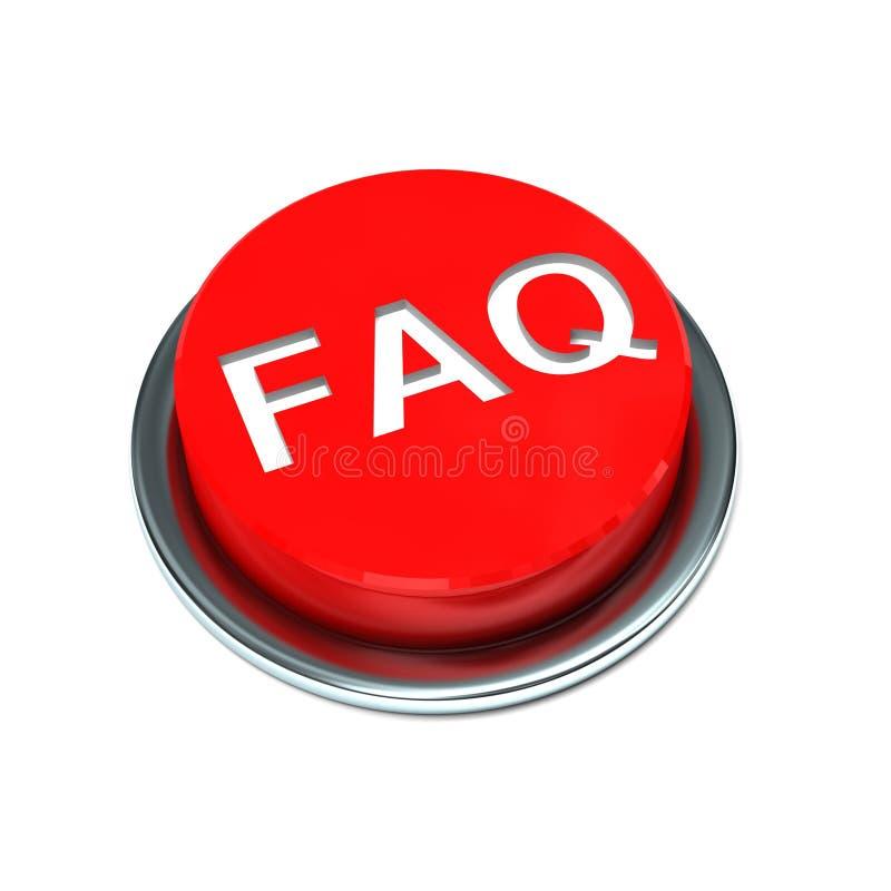 按钮常见问题解答查出的红色 向量例证