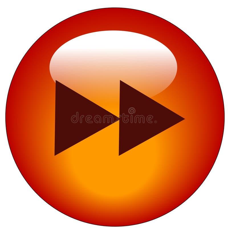 按钮快速运送万维网 库存例证