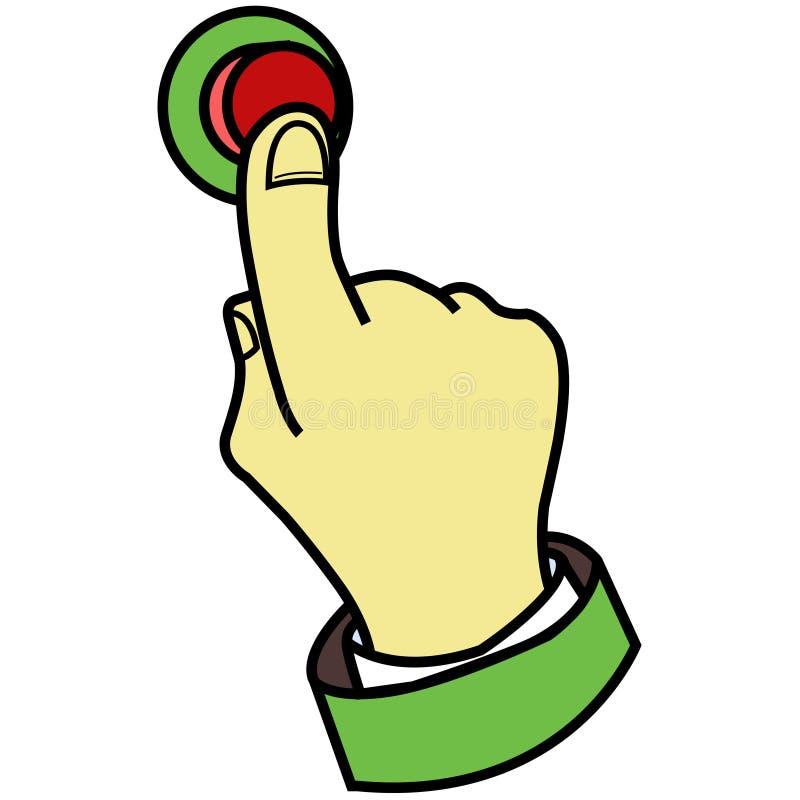 按钮手指按 向量例证