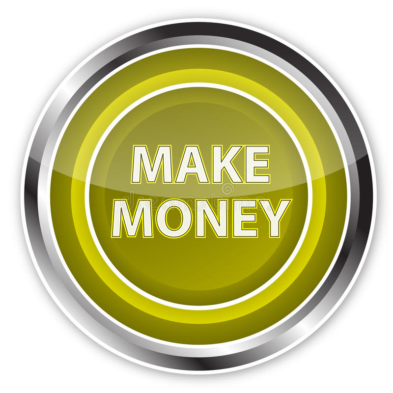 按钮挣货币 向量例证
