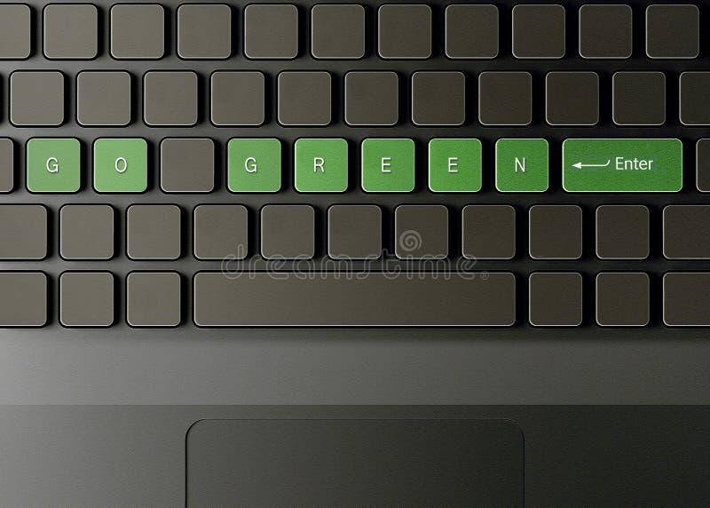 按钮掉了绿色关键董事会 皇族释放例证