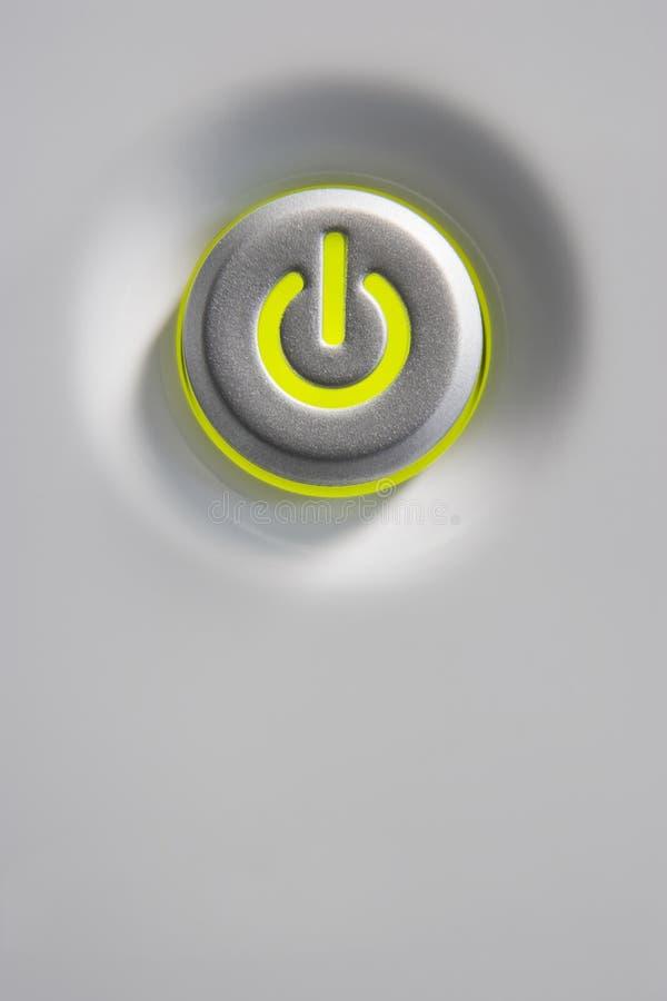 按钮接近的加电 免版税库存图片
