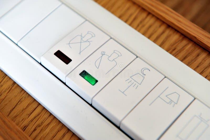 按钮控制电 免版税库存图片