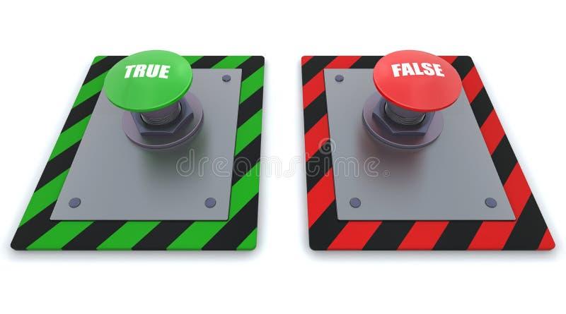 按钮推进 向量例证
