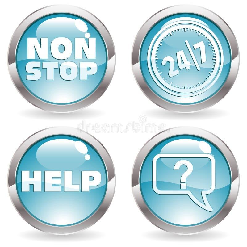 按钮收集四时数二十 向量例证