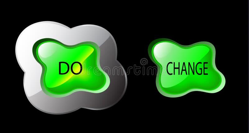 按钮更改形成有机向量 库存例证