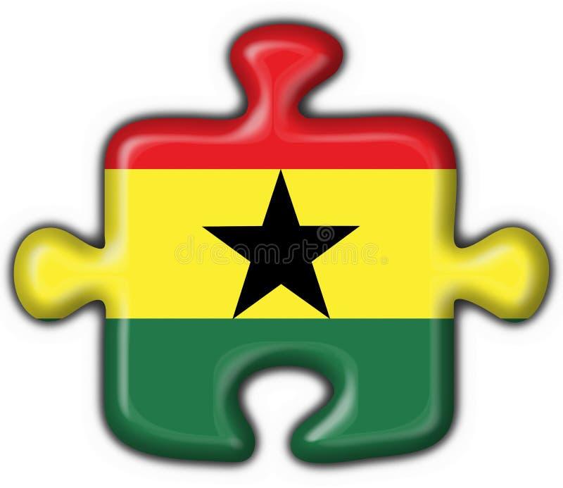 按钮标志加纳难题形状 皇族释放例证