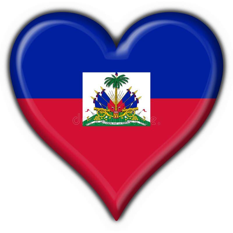 按钮标志海地重点形状 皇族释放例证