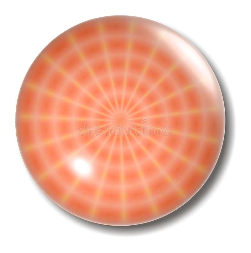 按钮橙色天体蜘蛛网 库存例证