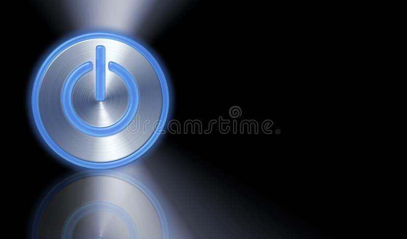 按钮次幂 向量例证