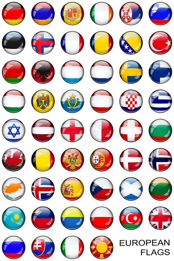 按钮欧洲标志 皇族释放例证