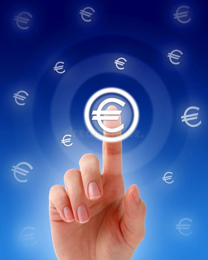 按钮欧洲现有量按 免版税库存图片