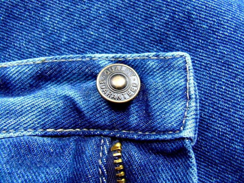 按钮牛仔裤 免版税库存图片