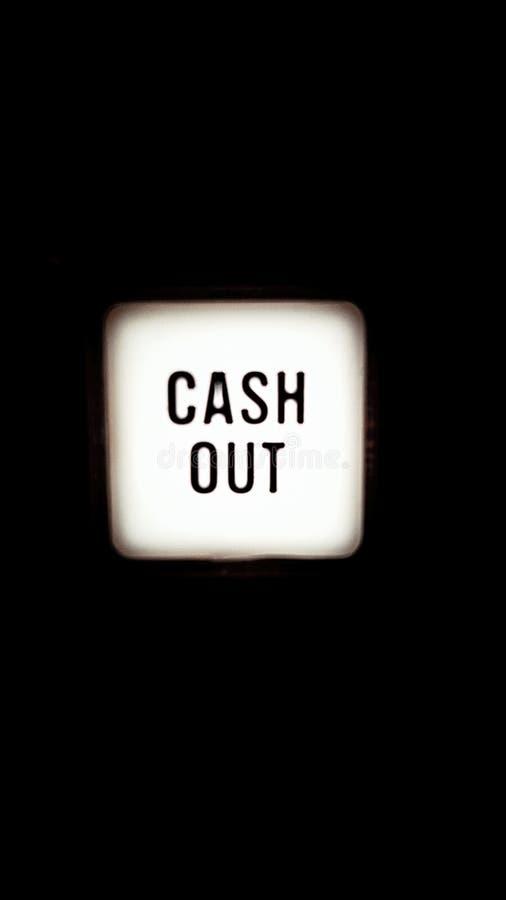 按钮现金 免版税库存照片