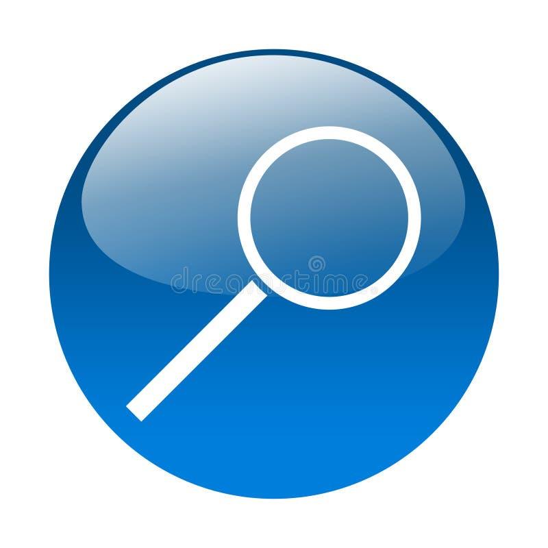 按钮玻璃扩大化 库存例证