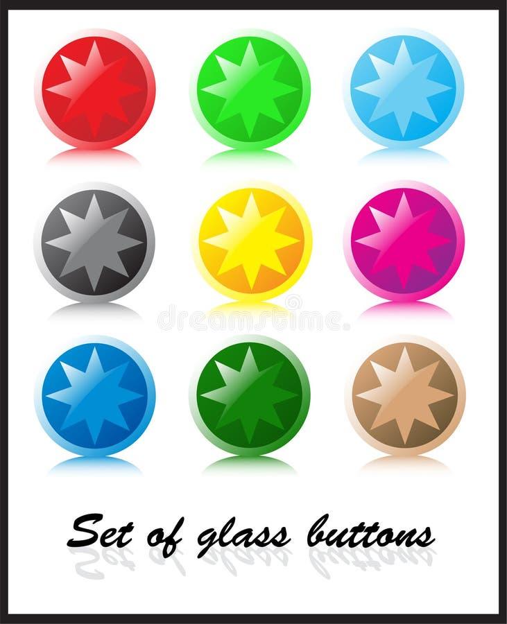 按钮玻璃集 皇族释放例证