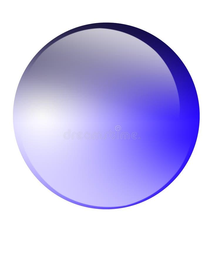按钮玻璃 向量例证