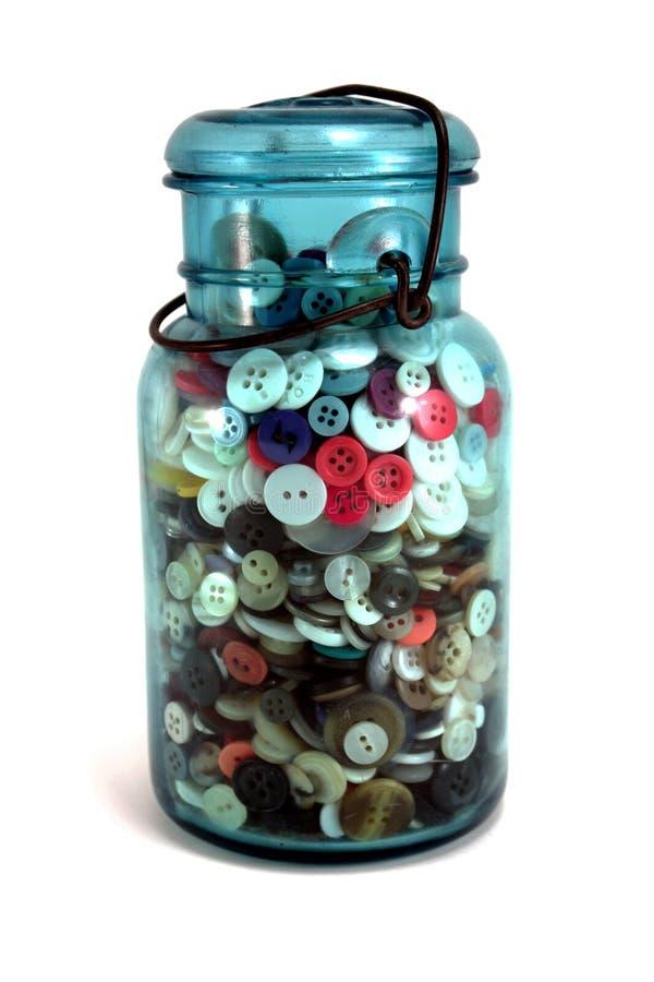 按钮瓶子泥工 库存图片