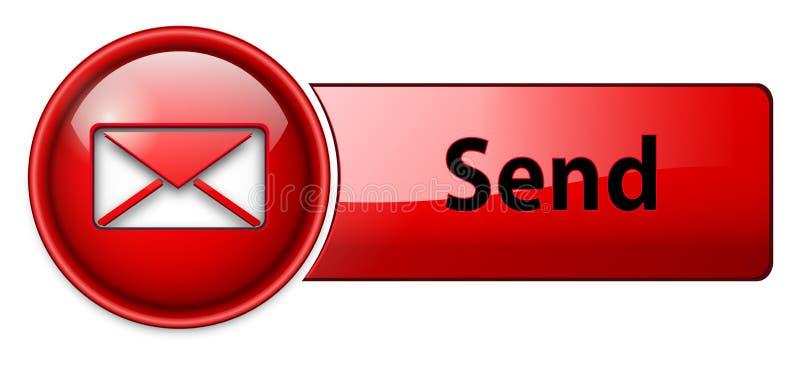 按钮电子邮件图标邮件 库存例证