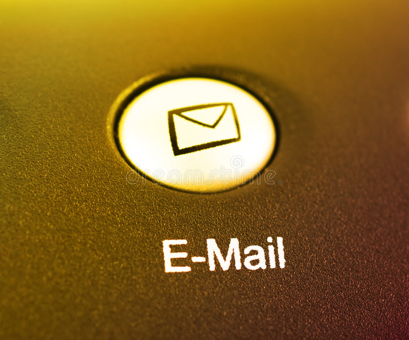按钮电子邮件快捷方式 库存照片