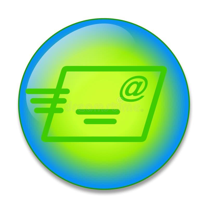 按钮电子邮件 库存例证