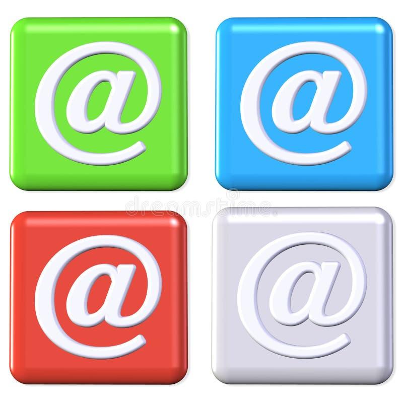 按钮电子邮件 皇族释放例证