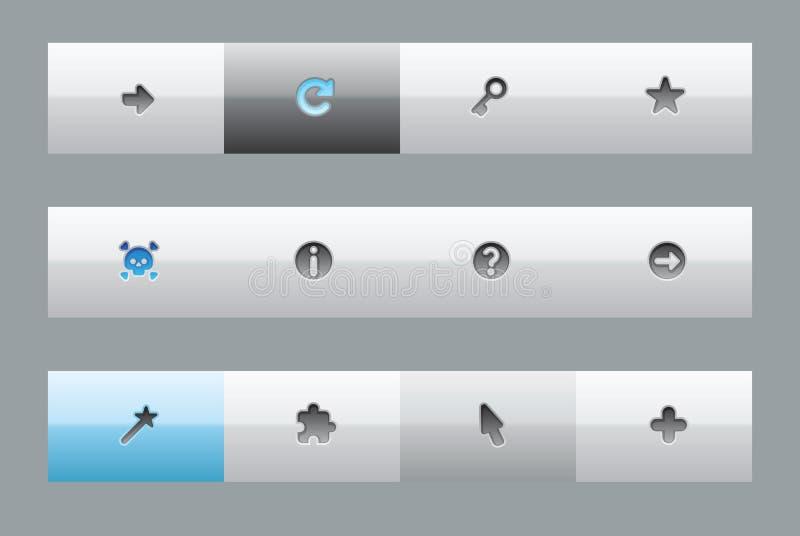 按钮界面符号 库存例证