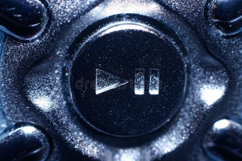 按钮看起来金属停留作用 库存图片