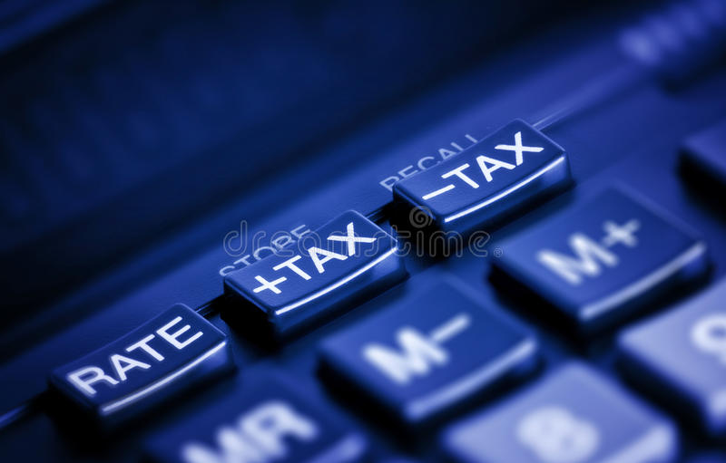 按钮税务 库存图片