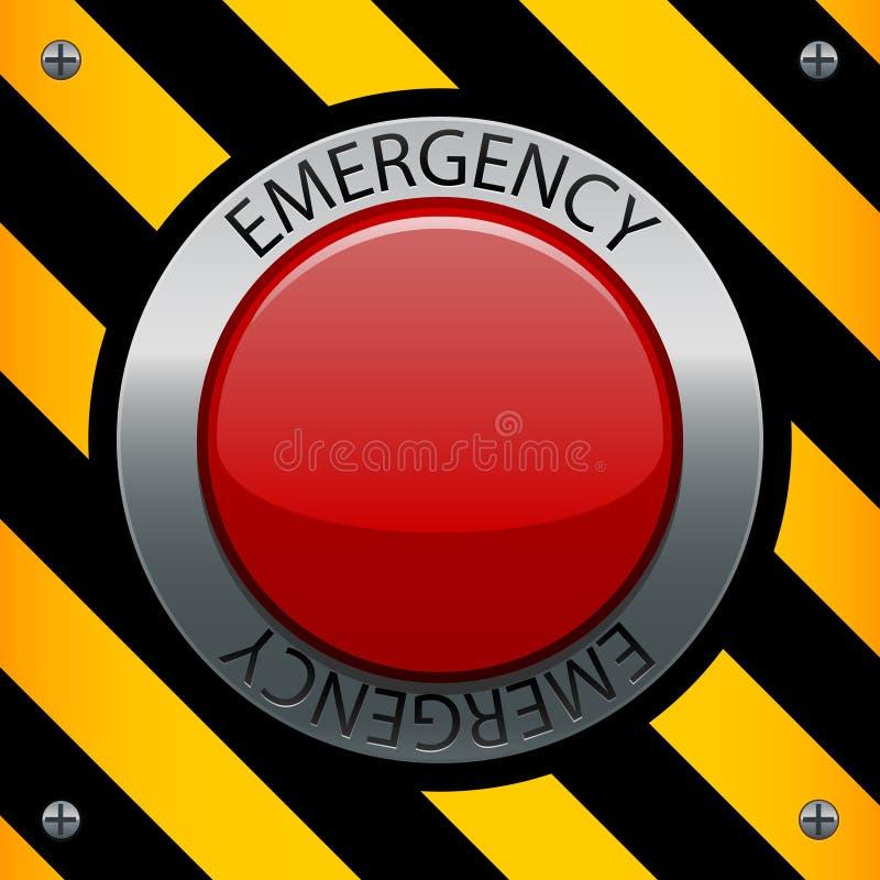 按钮紧急 皇族释放例证