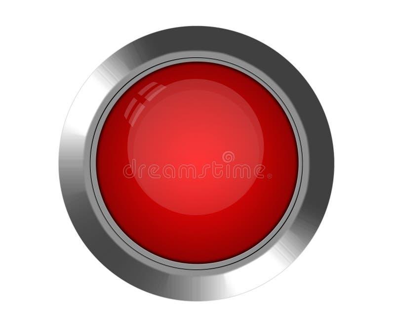 按钮红色 皇族释放例证