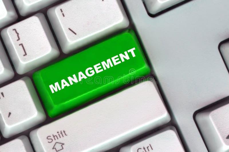 按钮绿色关键董事会管理 免版税库存图片