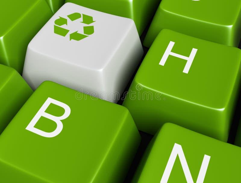 按钮绿色回收 向量例证