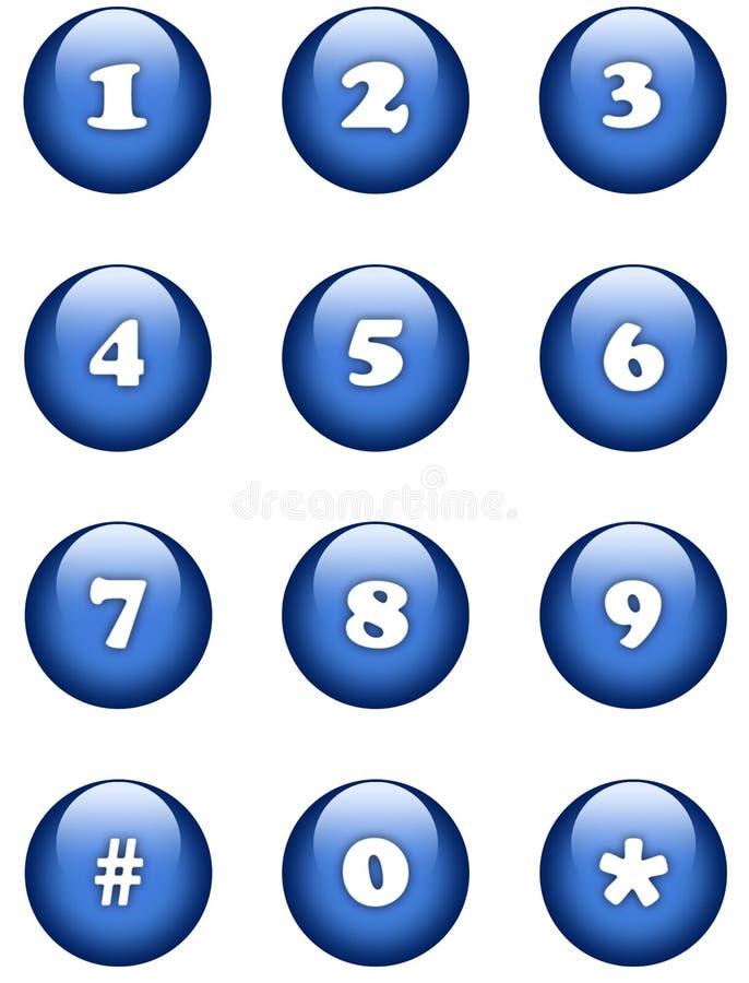 按钮编号 库存例证