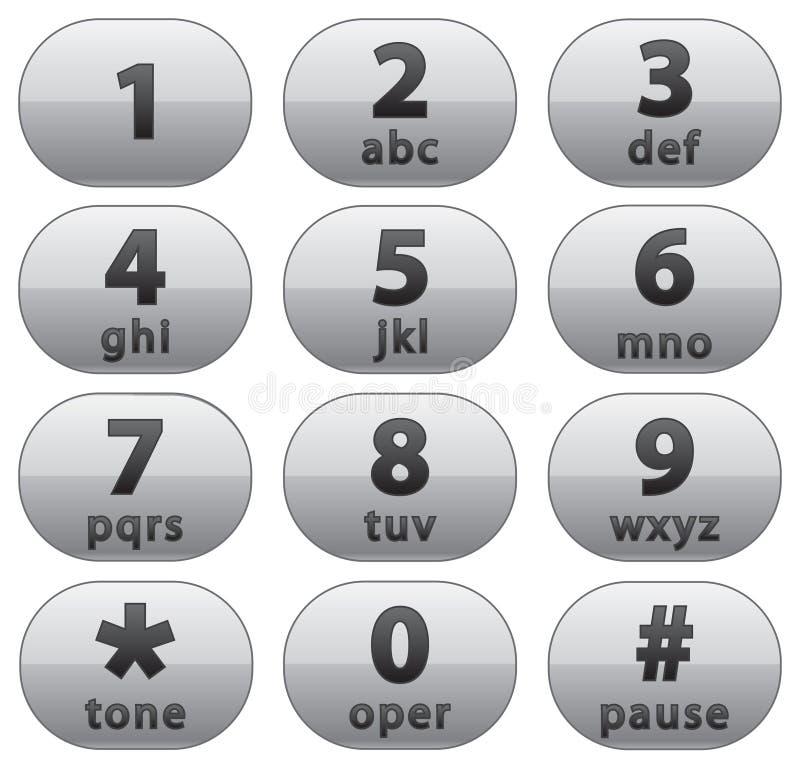 按钮编号 向量例证