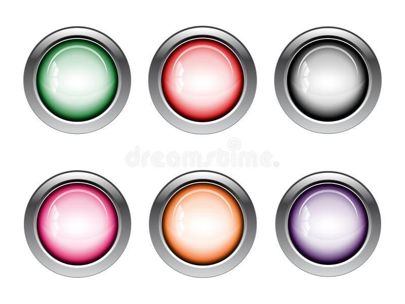 按钮网象以各种各样的颜色 库存例证