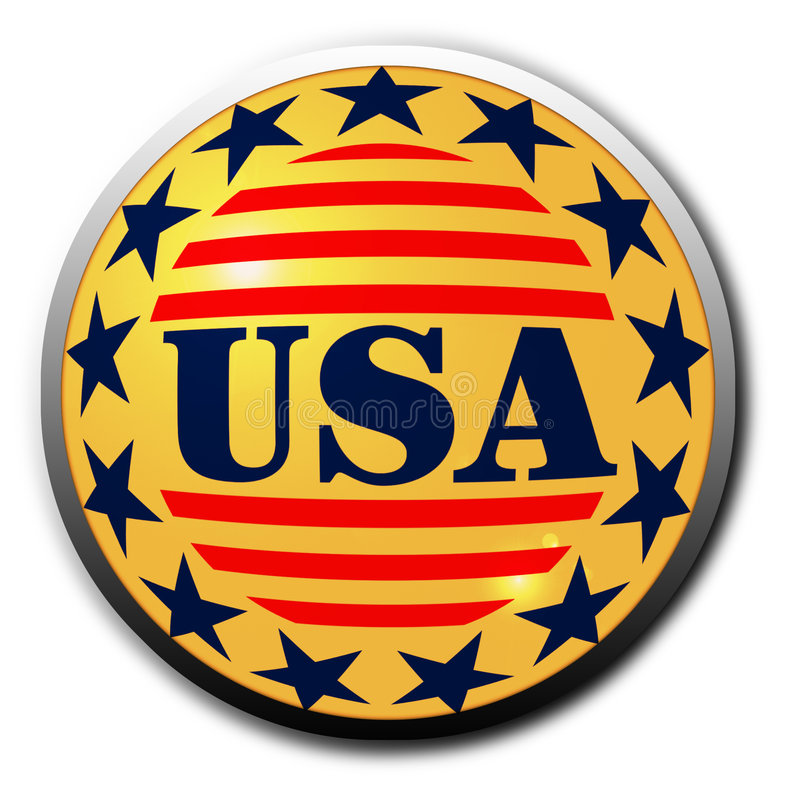 按钮美国 库存例证