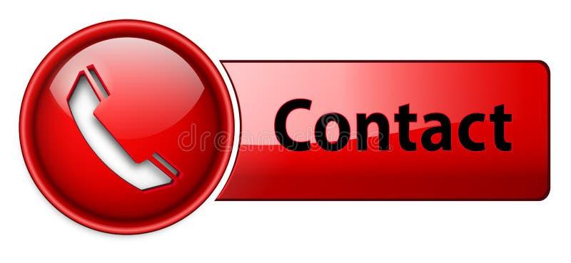 按钮联络图标电话 向量例证