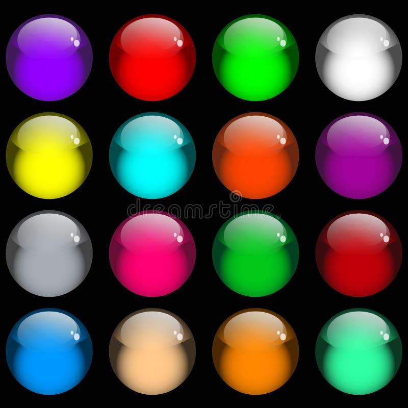 按钮胶凝体光滑的万维网 向量例证