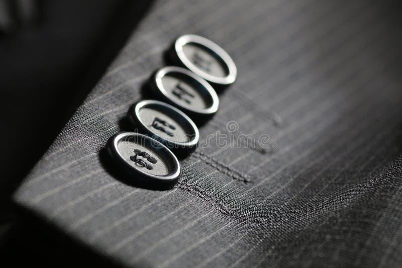 按钮衣服条纹 免版税库存图片