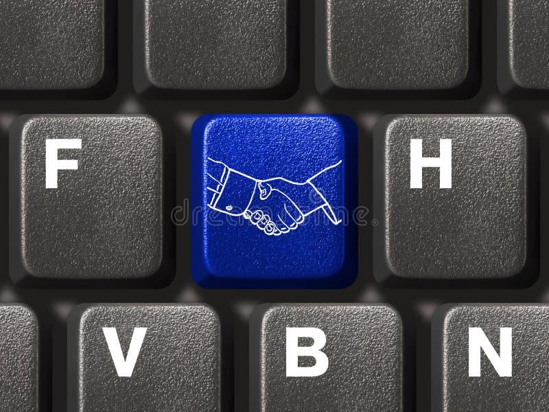 按钮计算机信号交换关键董事会 免版税库存图片