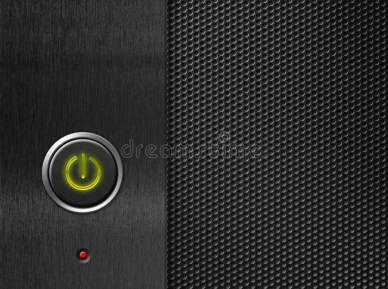 按钮计算机面板次幂 库存图片