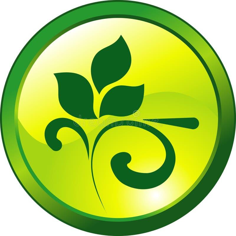 按钮设计花卉绿色 库存例证