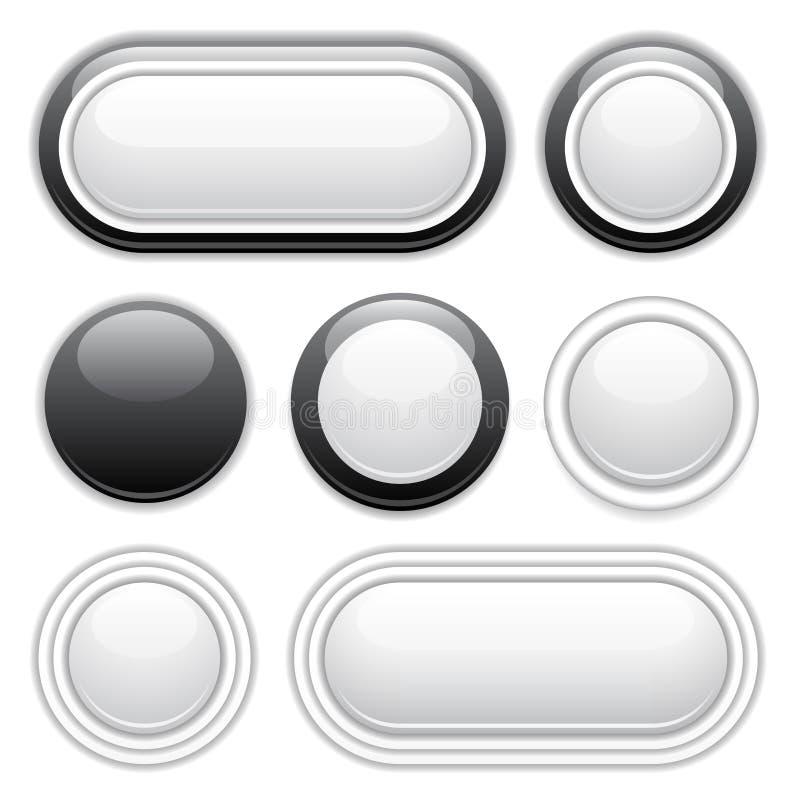 按钮设计要素 皇族释放例证
