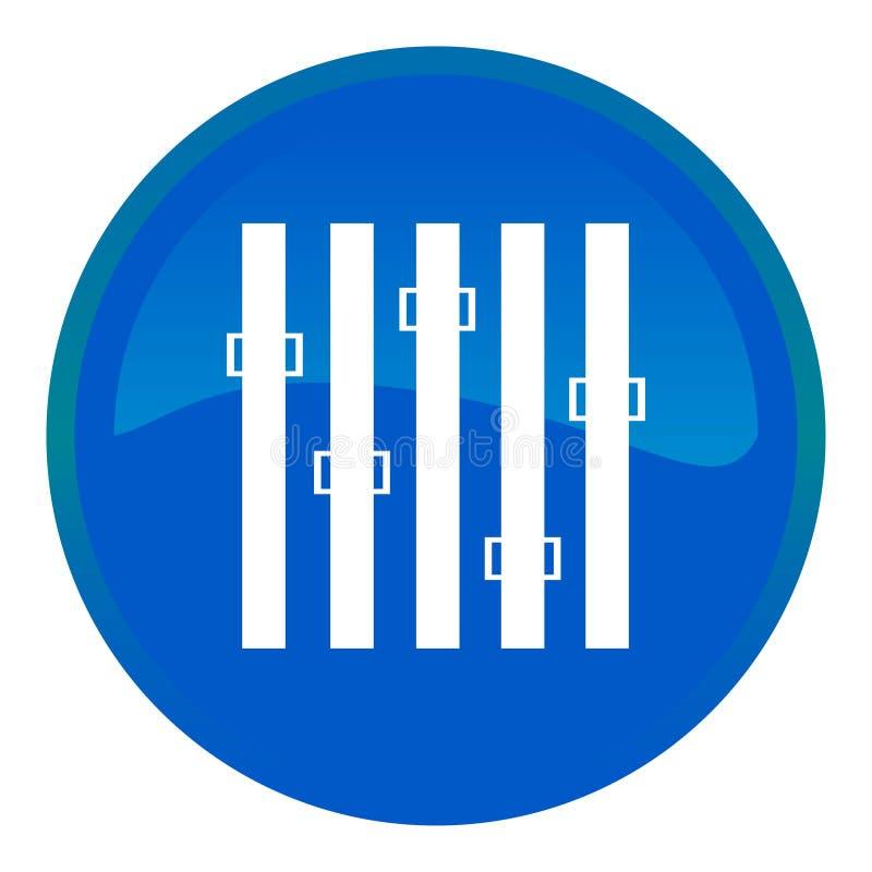 按钮调平器万维网 向量例证