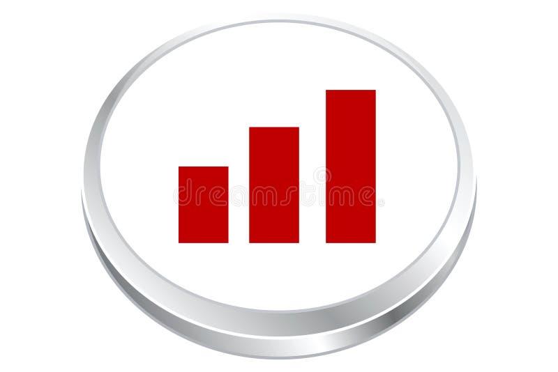 按钮调平器统计数据 库存例证