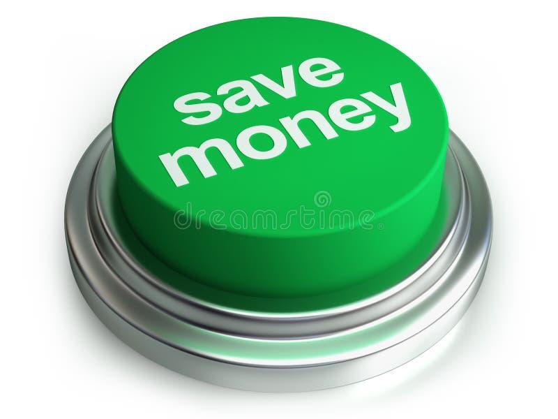 按钮货币保存 库存例证