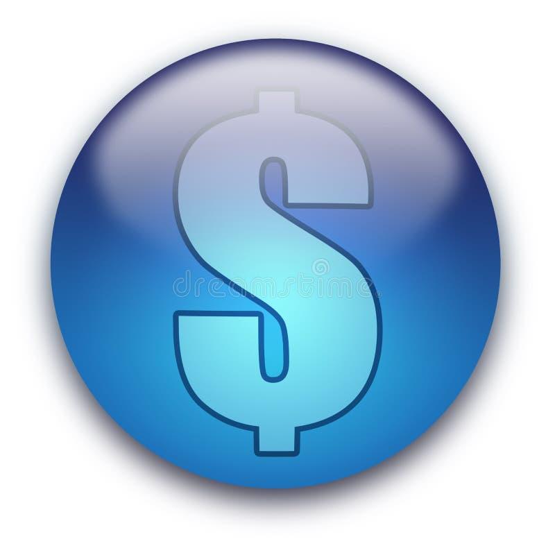 按钮货币美元的符号我们 向量例证
