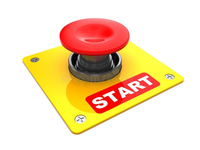 按钮起始时间 向量例证